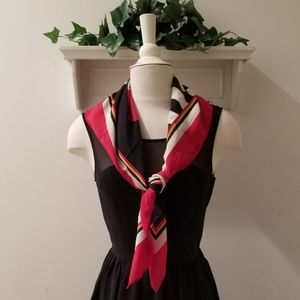 "The Limited Vintage Red & Black ""World"" Scarf"